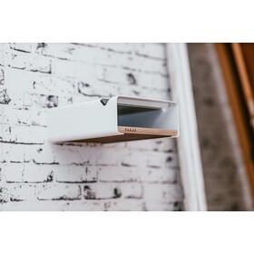 PARAX S-Rack Wall Mount Aluminium, blanco/marrón